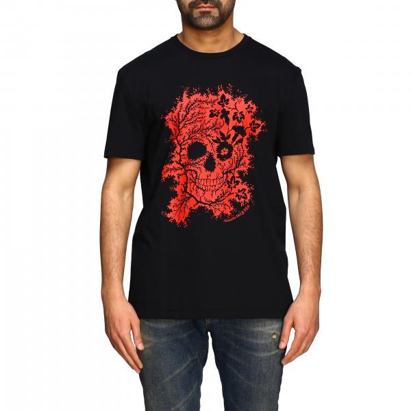 T-shirt Alexander Mcqueen a maniche corte con stampa teschio