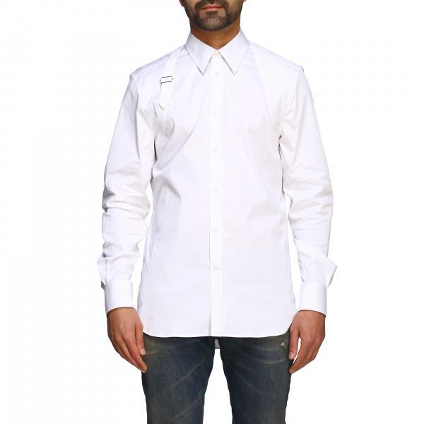 Alexander Mcqueen Hemd mit italienischem Kragen und Schnalle