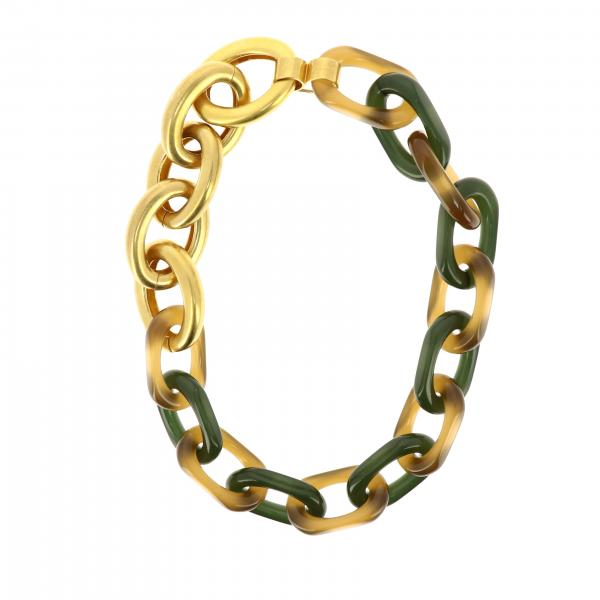 Marni bracelet with metal and resin chains