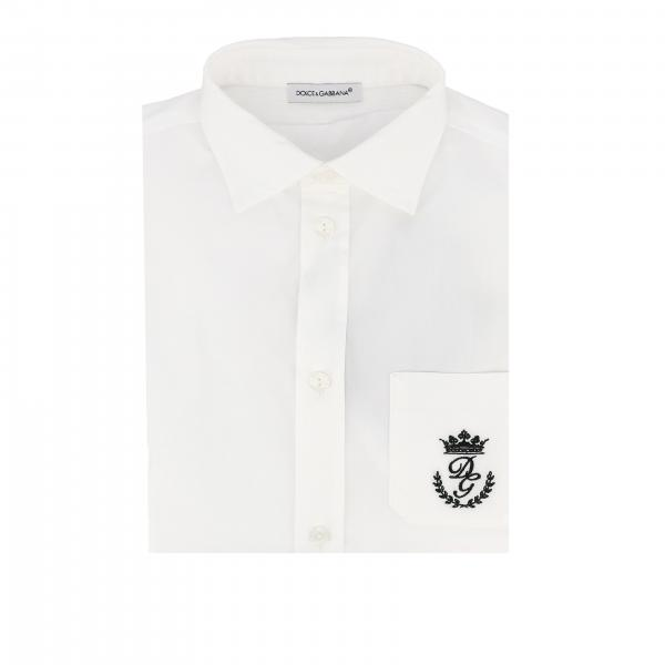 Dolce & Gabbana shirt with pocket and embroidered logo