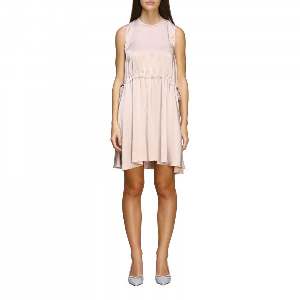 Red Valentino silk dress with side bows