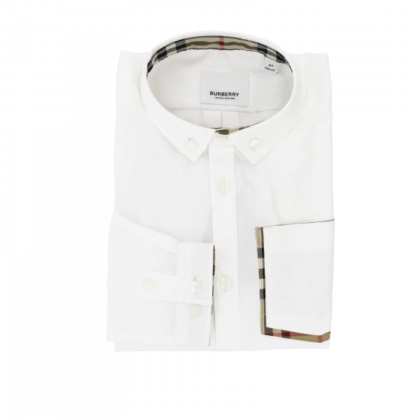 Camicia Oxford Burberry in cotone con collo button down e taschino