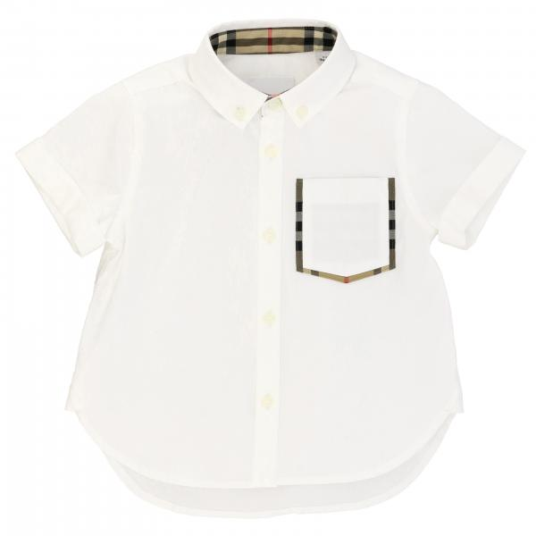 Camicia Burberry in cotone con collo button down e taschino