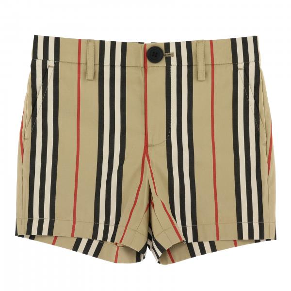 Classic vintage striped Burberry shorts