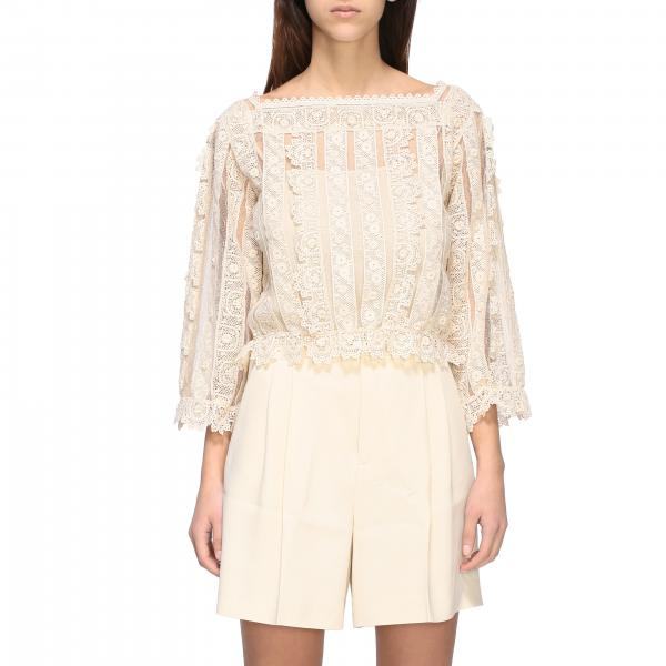 Red Valentino Bluse mit Stickerei