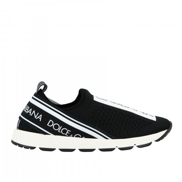 Dolce & Gabbana sneakers in mesh with bands and logo