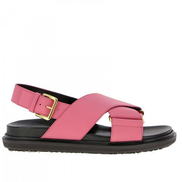Sandalo Marni in pelle bicolor