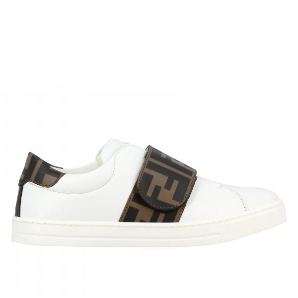 Sneakers Fendi in pelle con finiture in pelle FF Fendi