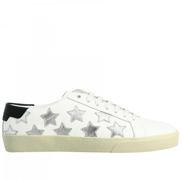 Saint Laurent leather sneakers with all over stars