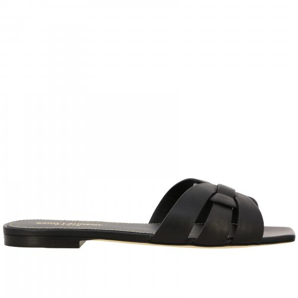 Saint Laurent Tribute flat leather sandal