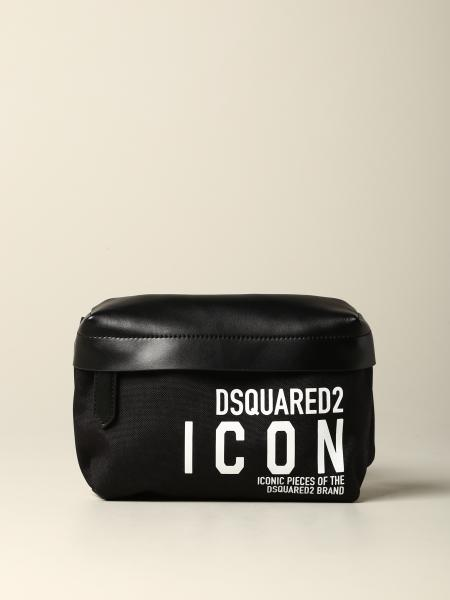 Marsupio Dsquared2 in pelle e nylon