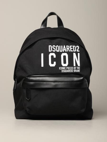 Dsquared2 canvas backpack with logo print
