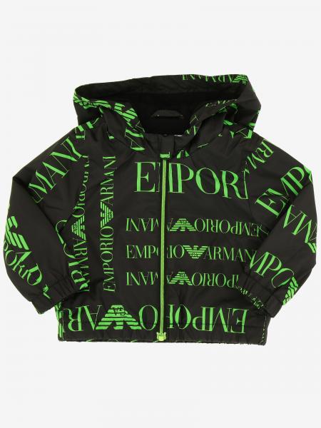 Giacca di nylon Emporio Armani con logo all over