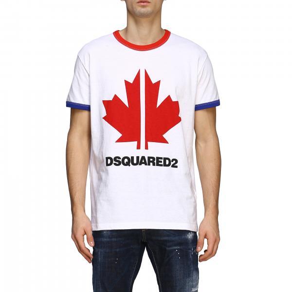 T-shirt Dsquared2 a maniche corte con big logo quadrifoglio