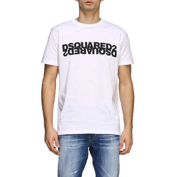 T-shirt Dsquared2 a maniche corte con big logo riflesso