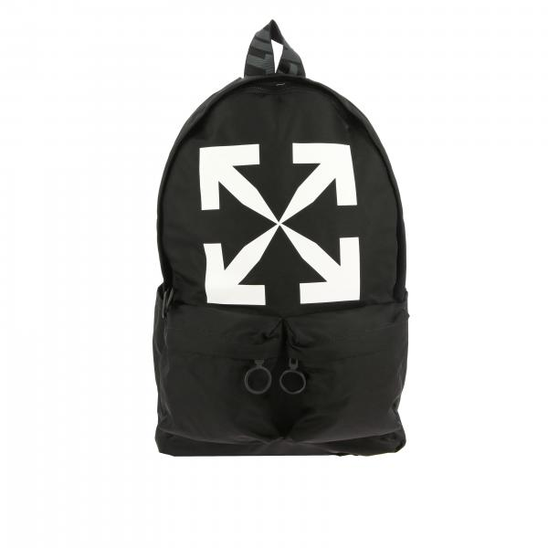 Off White nylon backpack with big logo