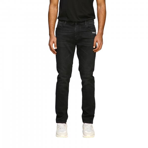Off White jeans in used denim 5-pocket model