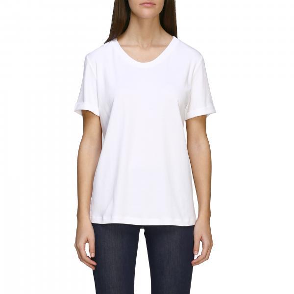T-shirt S Max Mara a maniche corte con stampa posteriore