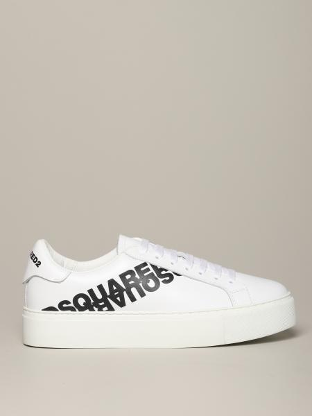 Sneakers Dsquared2 in pelle con logo