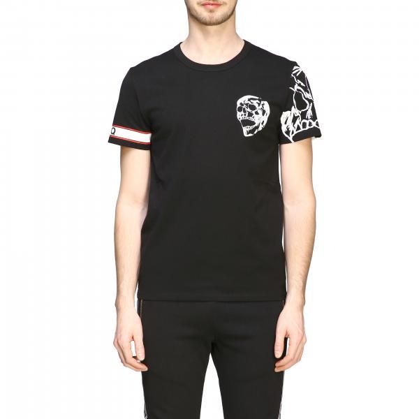 T-shirt Mcq Mcqueen a maniche corte con stampa teschio