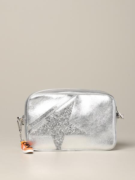 Golden Goose shoulder bag in laminated leather with glitter star