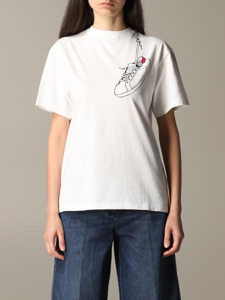 Golden Goose short-sleeved t-shirt with sneakers print