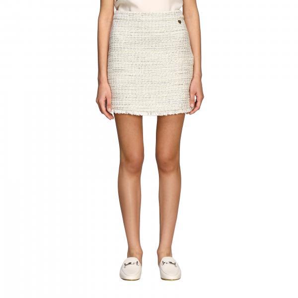 Mini Twin-set skirt in bouclé tweed