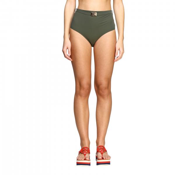 Tory Burch high-waisted swimsuit with strap and buckle