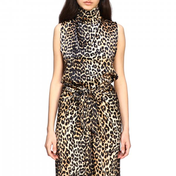 Top Ganni a fantasia animalier