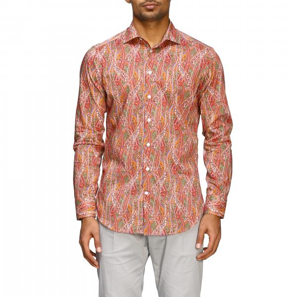Etro shirt with Paesley print and Italian collar