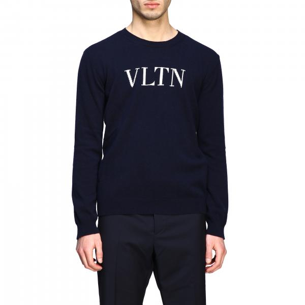 Valentino crew neck sweater with VLTN monogram