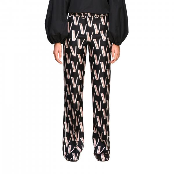 Valentino wide trousers with all over logo print