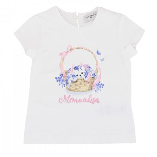 Monnalisa Baby short-sleeved T-shirt with floral print