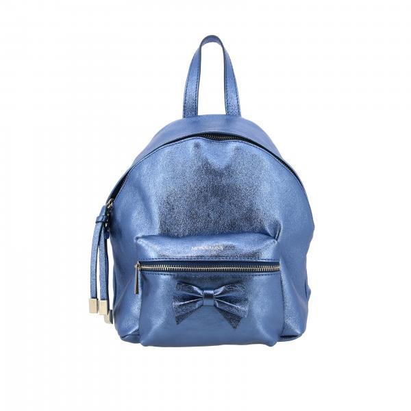 Monnalisa laminated backpack with maxi bow
