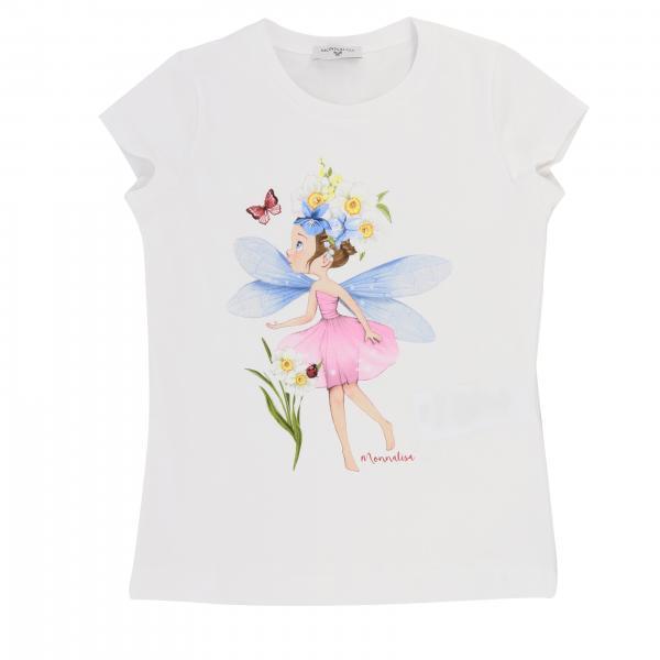 T-shirt Monnalisa a maniche corte con stampa fata