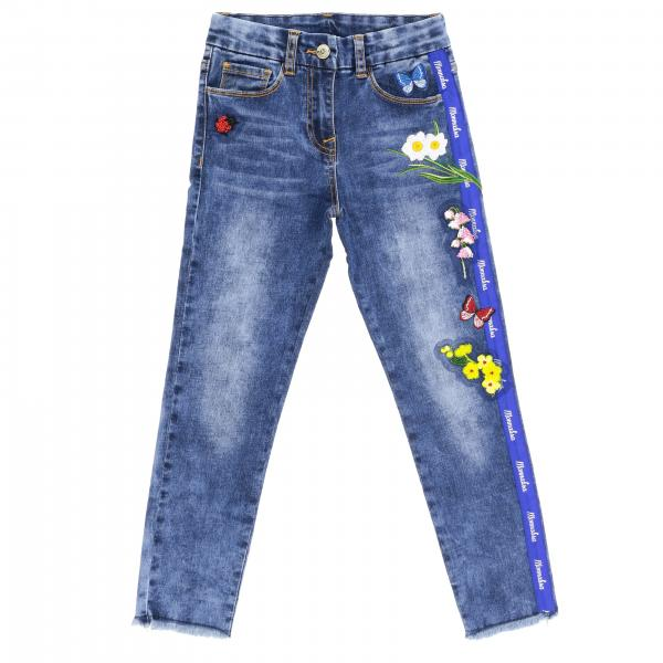 Monnalisa 5-pocket model jeans with embroidery