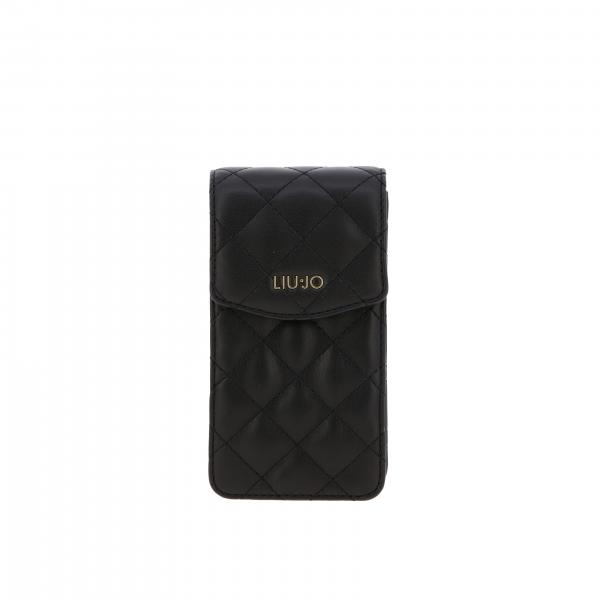 Liu Jo bag / pouch in quilted leather with logo