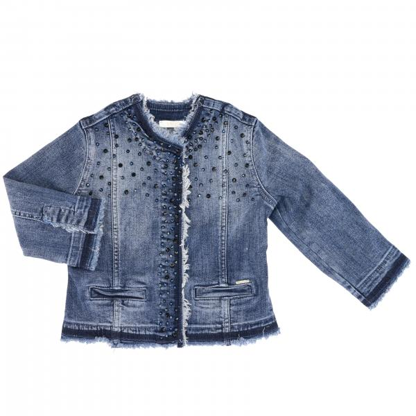 Liu Jo denim jacket with rhinestones