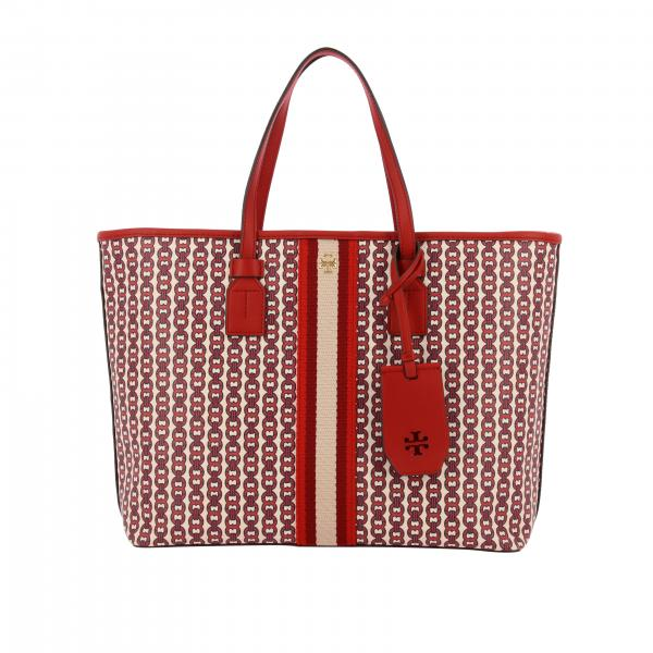 Borsa Gemini Link Tory Burch in canvas con stampa all over