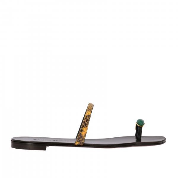 Sandalo flat Giuseppe Zanotti Design ad anello