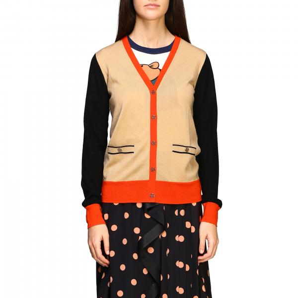 Cardigan Tory Burch in tessuto tricolor