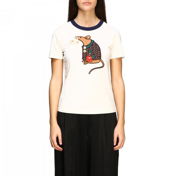 T-shirt Tory Burch con stampa topo
