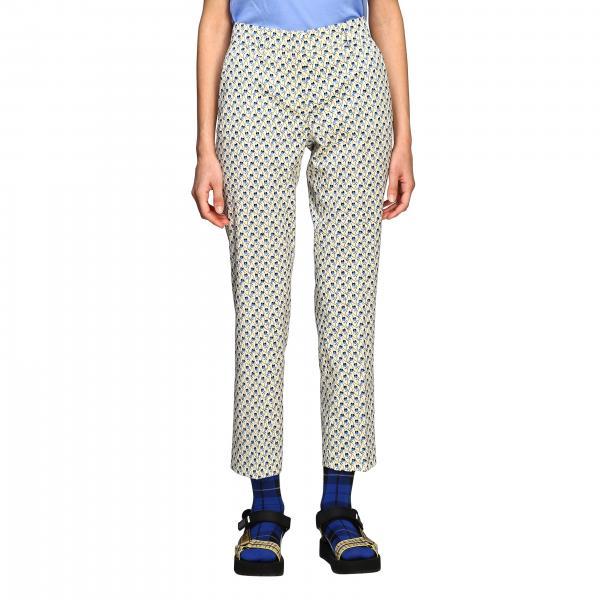 Pantalone Prada a micro fantasia