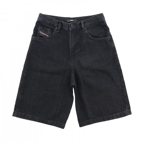 Pantaloncino Diesel in denim con logo