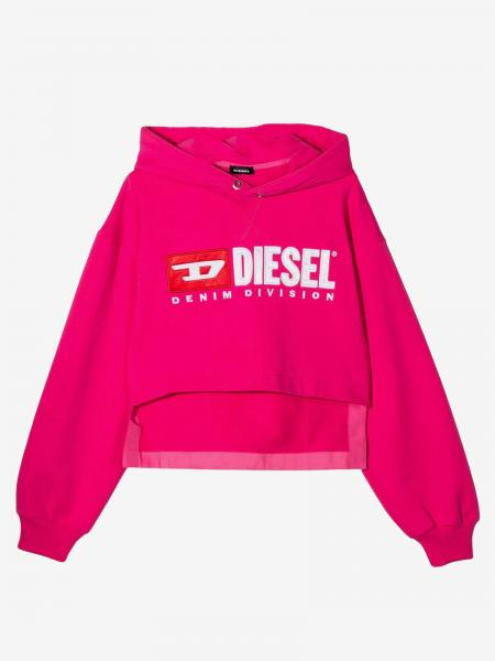 Diesel logo印花连帽卫衣