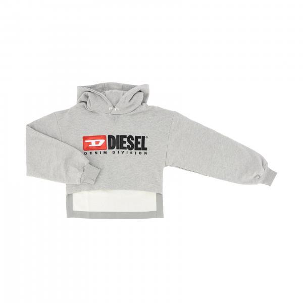 Diesel Sweatshirt mit Kapuze und Maxi Logo