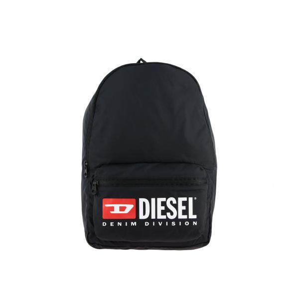 Diesel nylon backpack with big logo