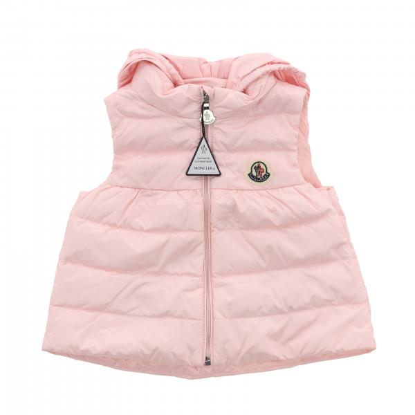 Moncler duvet jacket with hood and logo