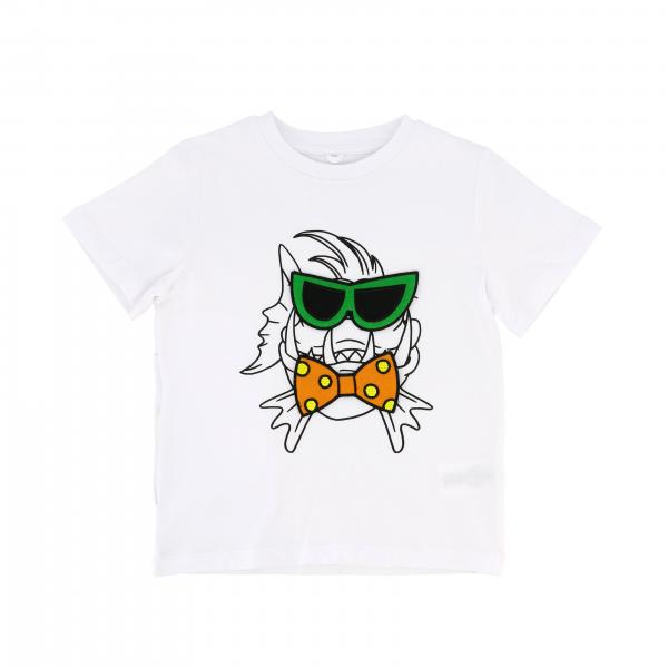 Stella Mccartney t-shirt with fish print and glasses-shaped patch