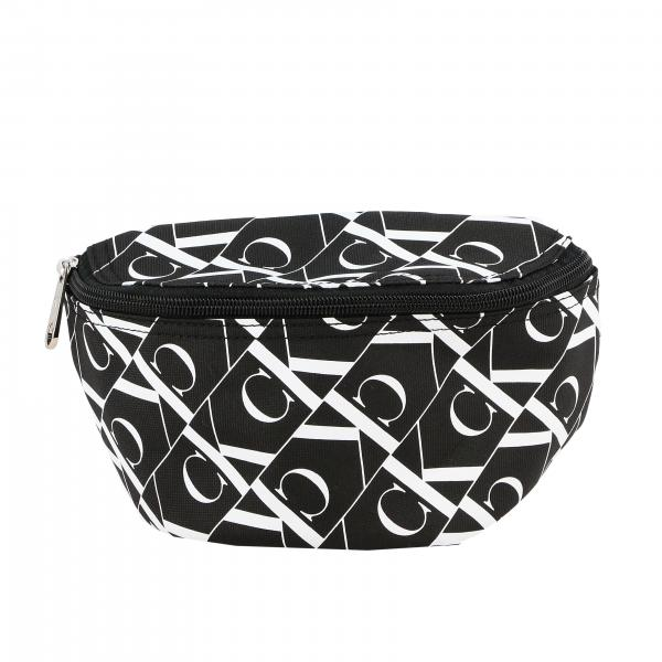 Calvin Klein nylon belt bag with all over CK monogram